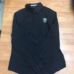 Primrose black long sleeve button up